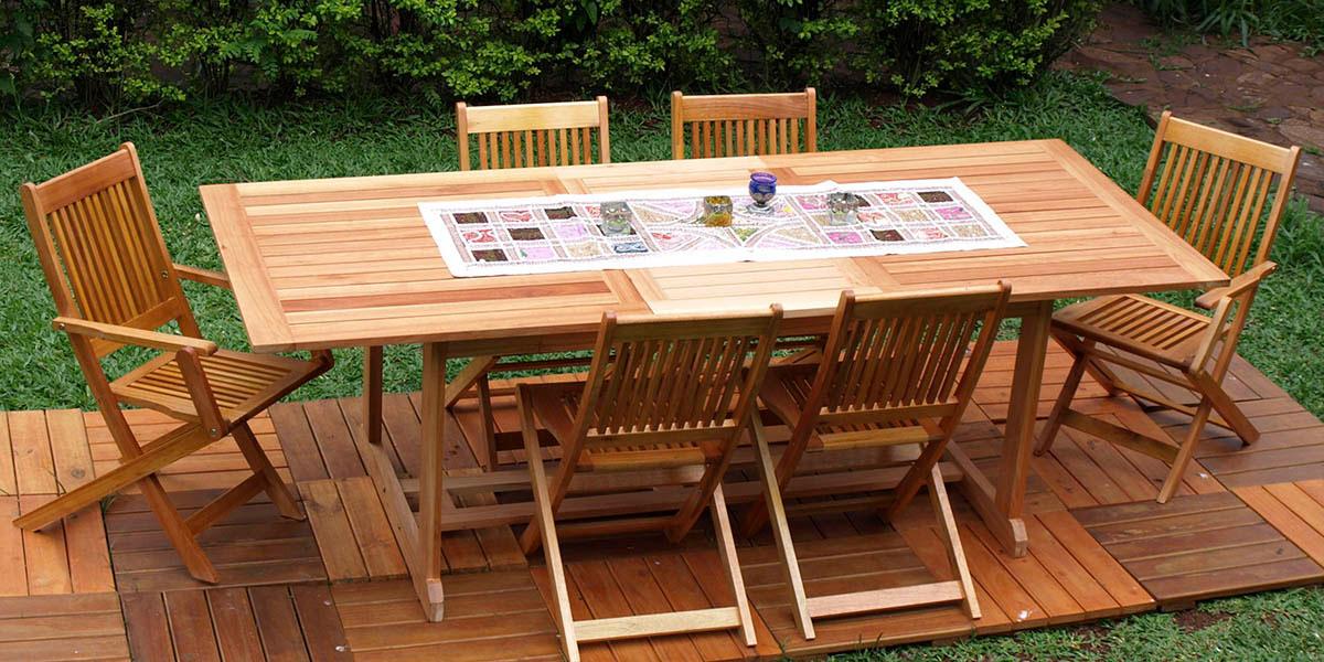 Juego delhi araucaria for Mesas de exterior plegables